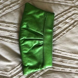 Laura Merkin Louise Clutch in metallic green
